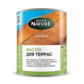 Масло для террас компании Ultra Nature - 1 л.